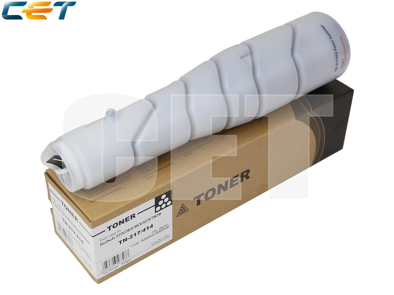 Тонер-картридж TN-217/TN-414 для KONICA MINOLTA Bizhub223/283/363/423 (CET), 512г, 25000 стр., CET6707