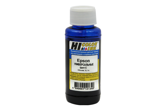 Чернила Hi-Black Универсальные для Epson (Тип E), C, 0,1 л.