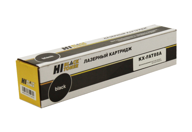 Тонер-картридж Hi-Black (HB-KX-FAT88A) для PanasonicKX-FL401/402/403/FLC411/412/413, 2K