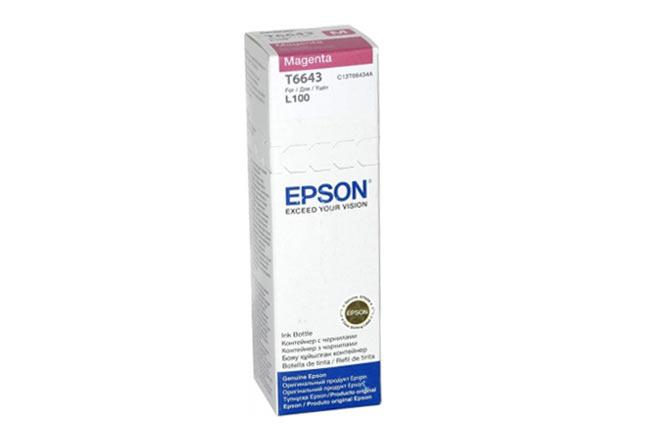 Чернила Epson L100/110/200/210/300/355/550/555 (O)C13T66434A, magenta, 70ml