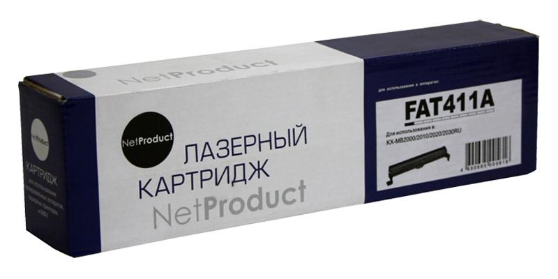Тонер-картридж NetProduct (N-KX-FAT411A) для PanasonicKX-MB1900/2000/2020/2030/2051, 2K