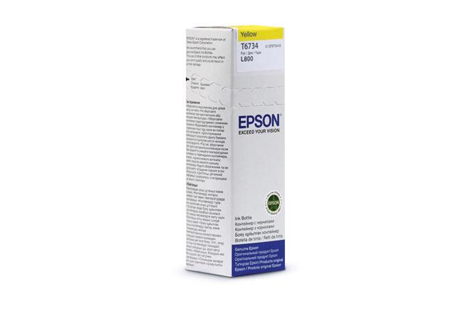 Чернила Epson L800/L1800/L810/L850 (О) C13T67344A, yellow,70ml