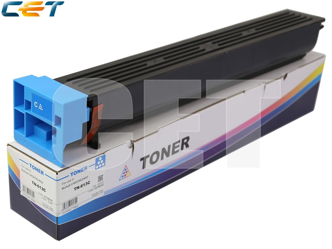 Тонер-картридж TN-613C для KONICA MINOLTA BizhubC452/C552/C652 (CET) Cyan, 510г, 30000 стр., CET7272