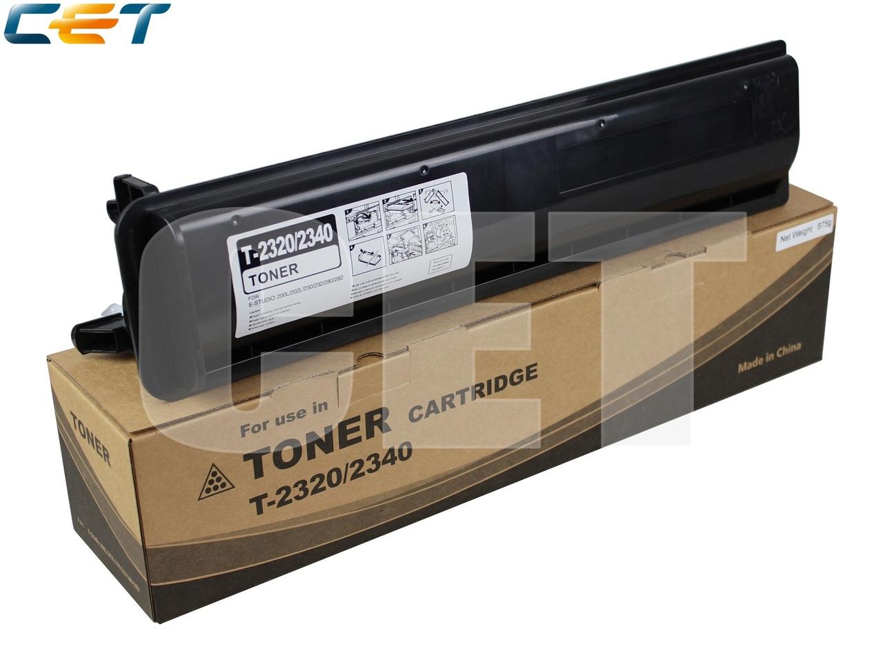Тонер-картридж T-2320/2340 для TOSHIBA E-Studio200L/202L/230/232/280/282 (CET), 675г, 22000 стр., CET7457