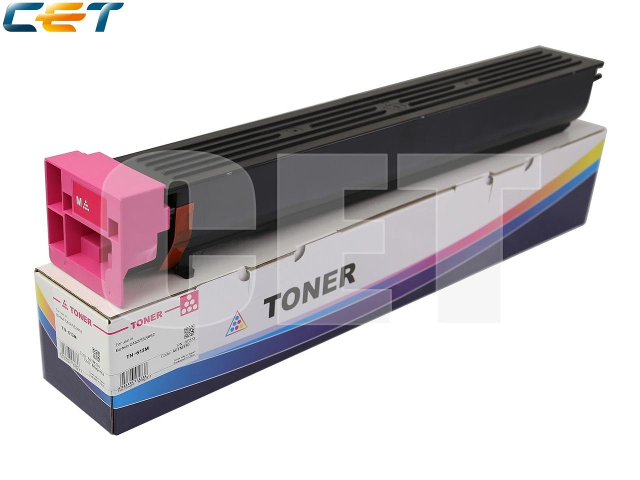 Тонер-картридж TN-613M для KONICA MINOLTA BizhubC452/C552/C652 (CET) Magenta, 510г, 30000 стр., CET7273