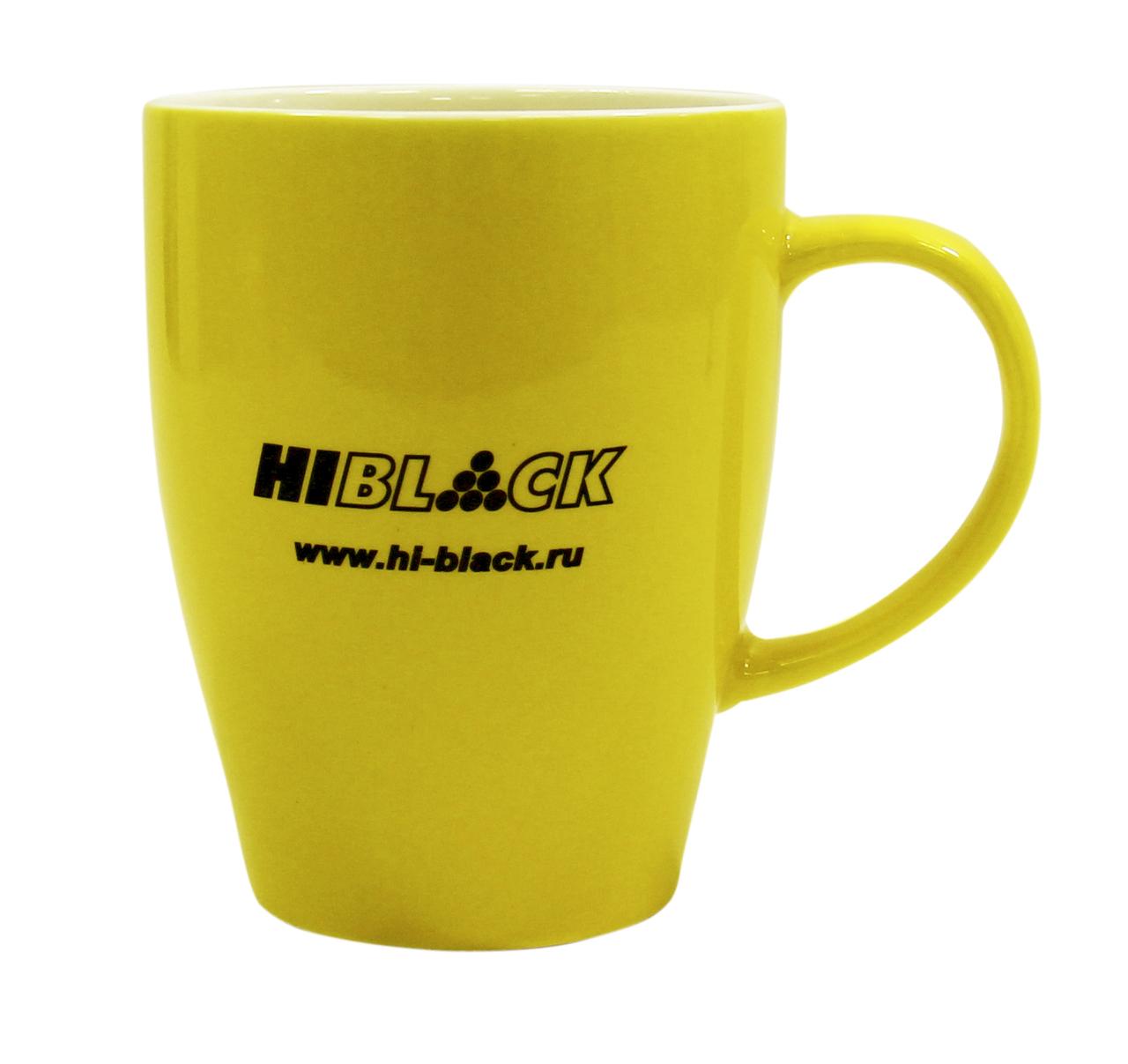 Кружка желтая Hi-Black (в упаковке)