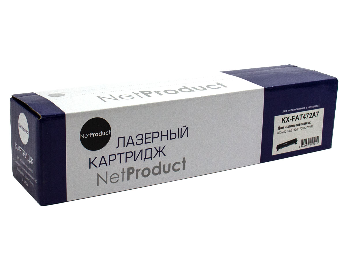 Тонер-картридж NetProduct (N-KX-FAT472A7) для PanasonicKX-MB2110/2130/2170, 2K