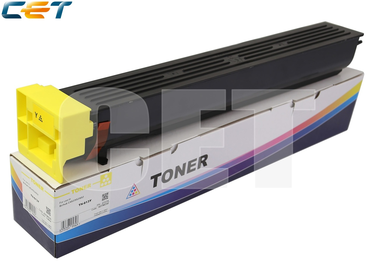 Тонер-картридж TN-613Y для KONICA MINOLTA BizhubC452/C552/C652 (CET) Yellow, 510г, 30000 стр., CET7274