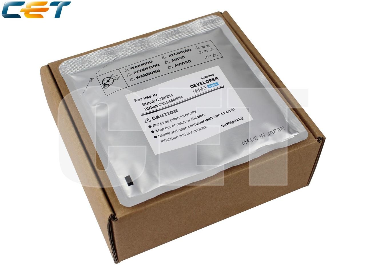 Девелопер для KONICA MINOLTA BizhubC224/C284/C364/C454/C554 (CET) Cyan, 210г/пак, 590000 стр.,CET8126