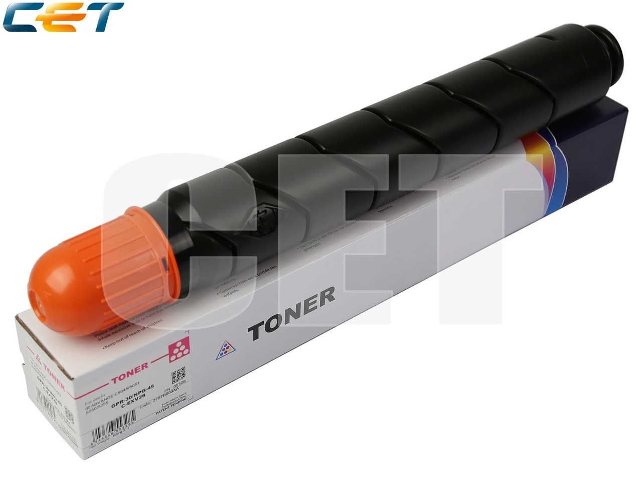 Тонер-картридж (CPP) C-EXV28 для CANON iR ADVANCEC5045/C5051/C5250/C5255 (CET) Magenta, 667г, 38000 стр.,CET5328