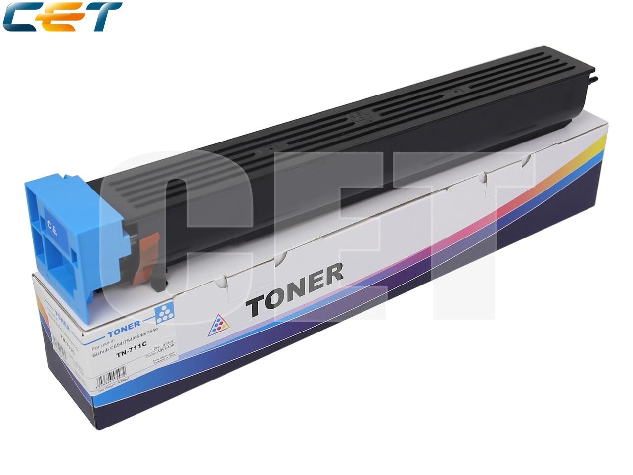 Тонер-картридж TN-711C для KONICA MINOLTA BizhubC454/C554/C454e/C554e (CET) Cyan, 535г, 31500 стр.,CET7297