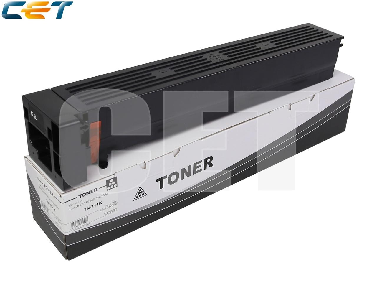 Тонер-картридж (NF6) TN-711K, TN-712 для KONICA MINOLTABizhub 654/754/C654/C754 (CET) Black, 945г, 47200 стр.,CET7296
