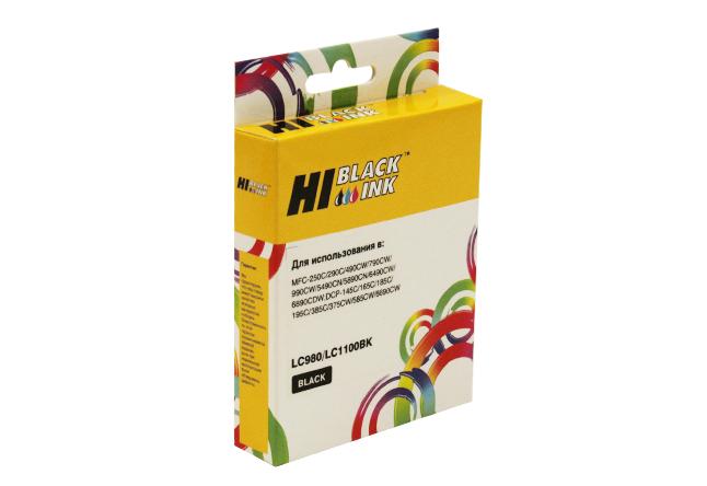 Картридж Hi-Black (HB-LC1100BK/LC-980Bk) для BrotherDCP-145C/DCP-165С/195C/MFC-250C, Bk