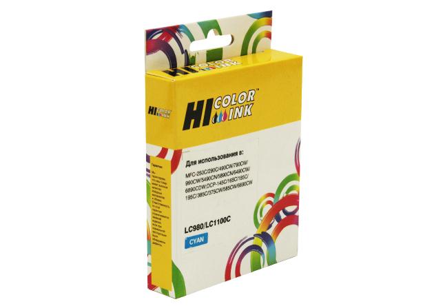 Картридж Hi-Black (HB-LC1100C/LC980C) для BrotherDCP-145C/195C/MFC-165C/MFC-250C, C