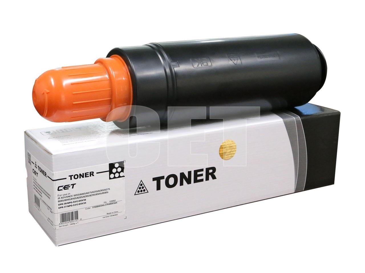 Тонер-картридж (CPP) C-EXV36/C-EXV35 для CANON iRADVANCE 6055/6065/6075/6255 (CET) Black, (WW), 2400г,70000 стр., CET131052