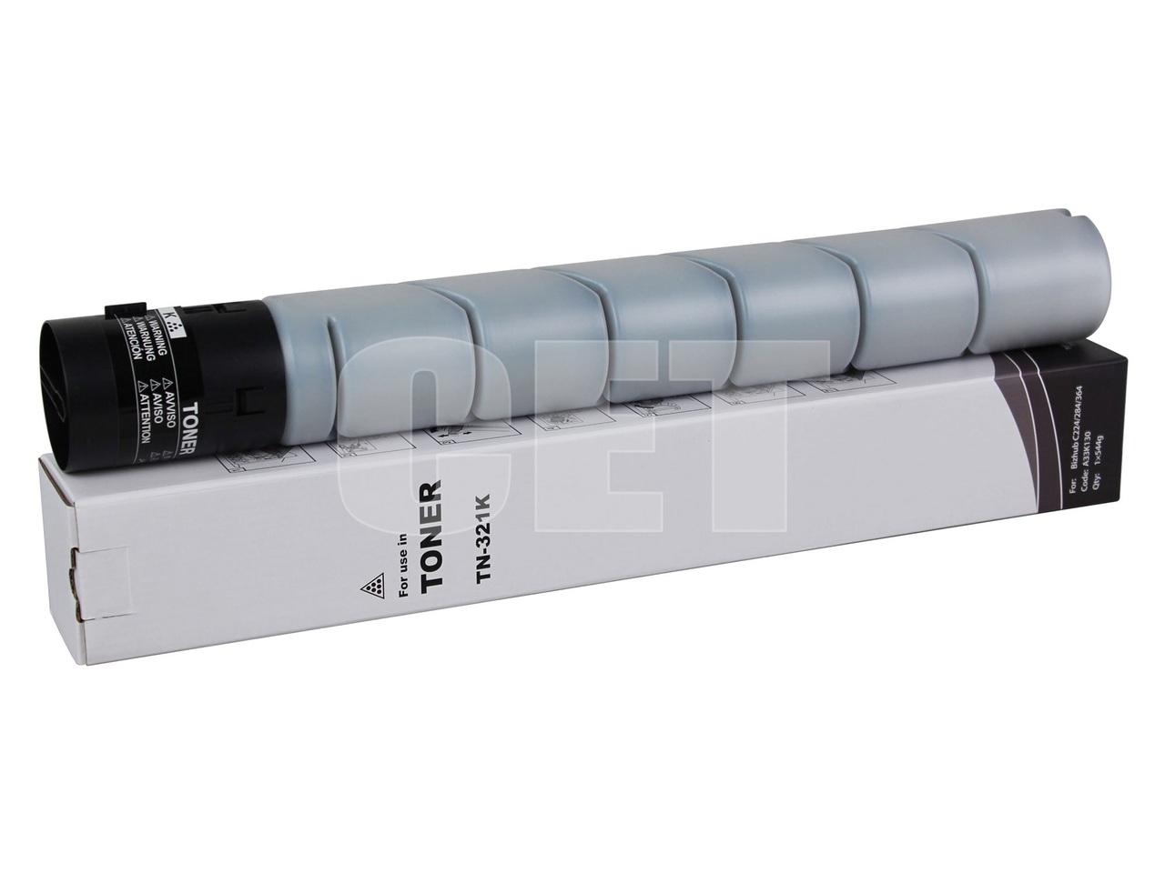 Тонер-картридж (NF6) TN-321K для KONICA MINOLTA BizhubC224/C284/C364/C224e/C284e (CET) Black, 544г, 27000 стр.,CET7262