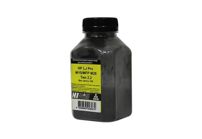Тонер Hi-Black для HP LJ Pro M15/MFP M28, Тип 2.2, Bk, 55 г,банка