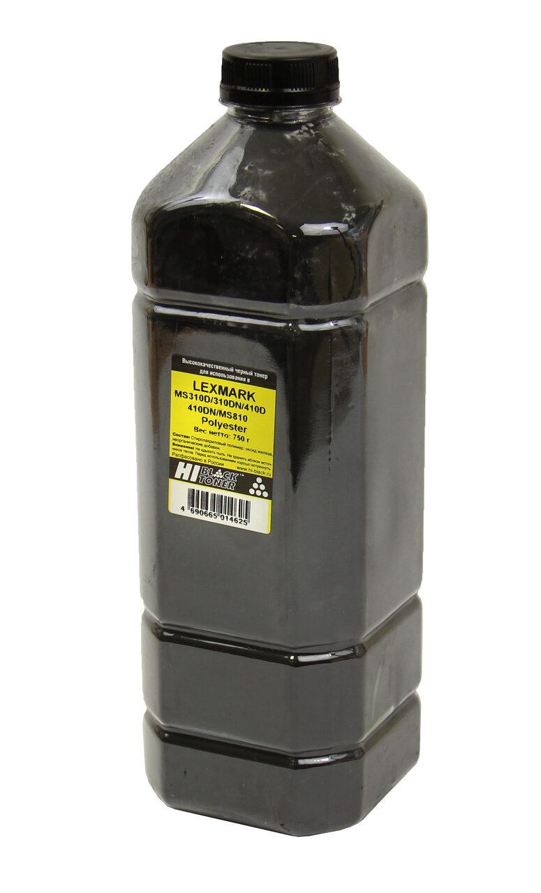 Тонер Hi-Black для LexmarkMS310d/310dn/410d/410dn/MS810dn, Polyester, Bk, 750 г,канистра