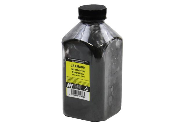 Тонер Hi-Black для Lexmark MS310d/410d/510d/610dn, Bk, 160г, банка