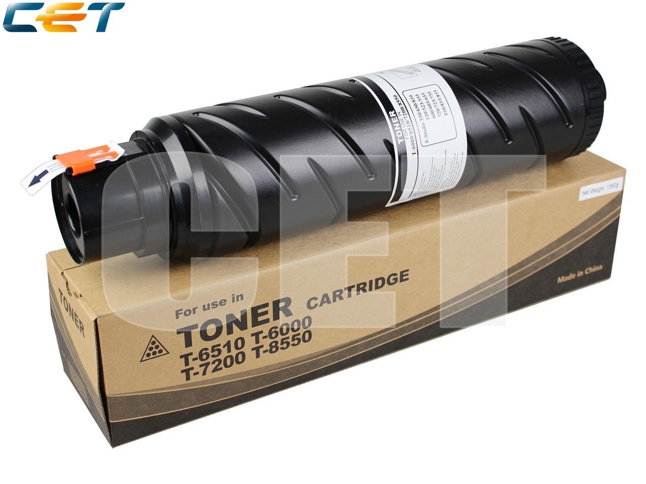 Тонер-картридж T-6510/6000/7200/8550 для TOSHIBA E-Studio550/655/855 (CET), 1370г, 62400 стр., (унив.), CET7468