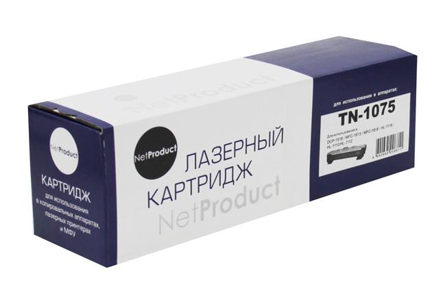 Тонер-картридж NetProduct (N-TN-1075) для BrotherHL-1010R/1112R/DCP-1510R/MFC-1810R, 1K