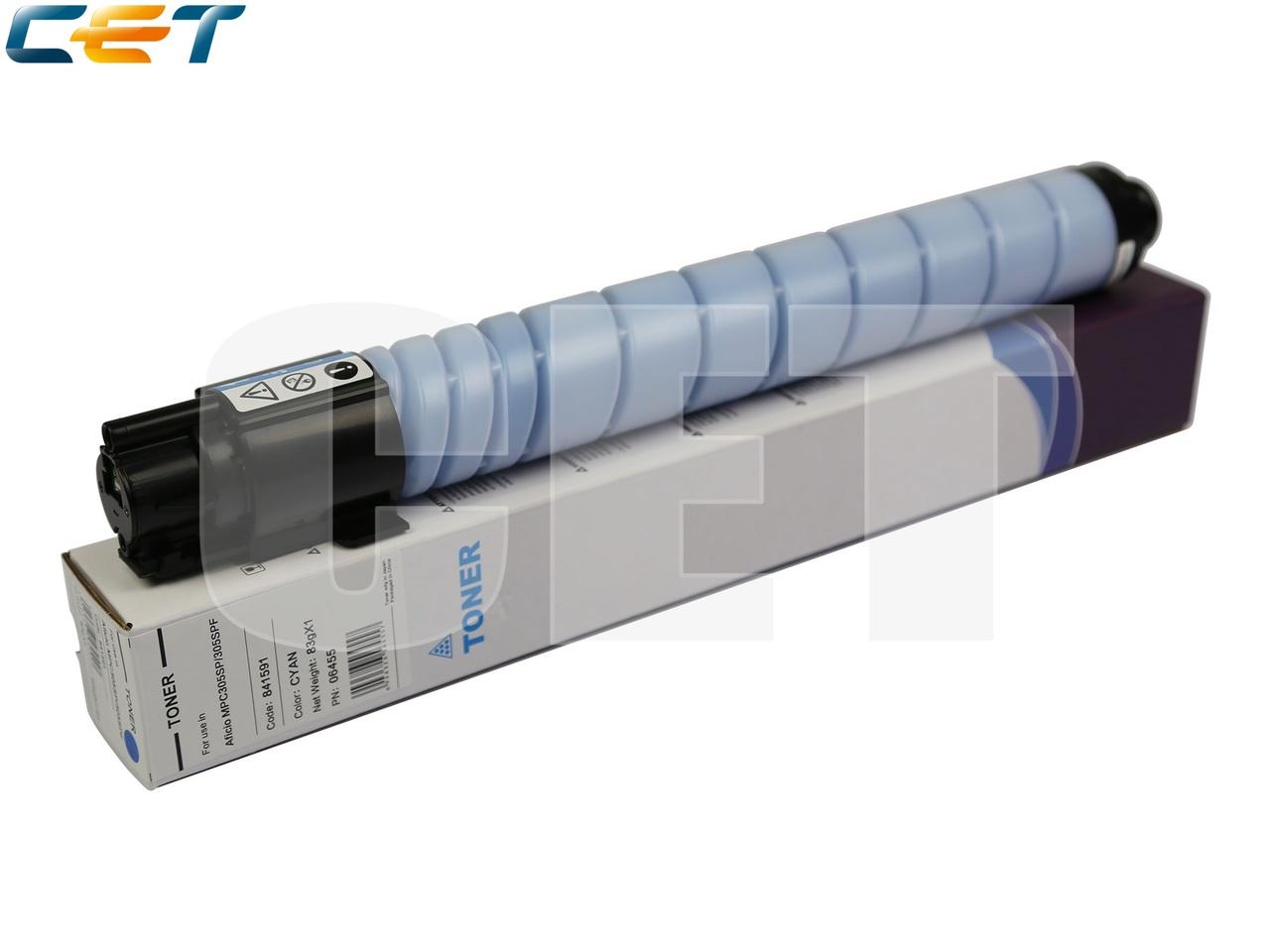 Тонер-картридж (Type 516) 841595 для RICOH AficioMPC305SP/MPC305SPF (CET) Cyan, 83г, 4000 стр., CET6455