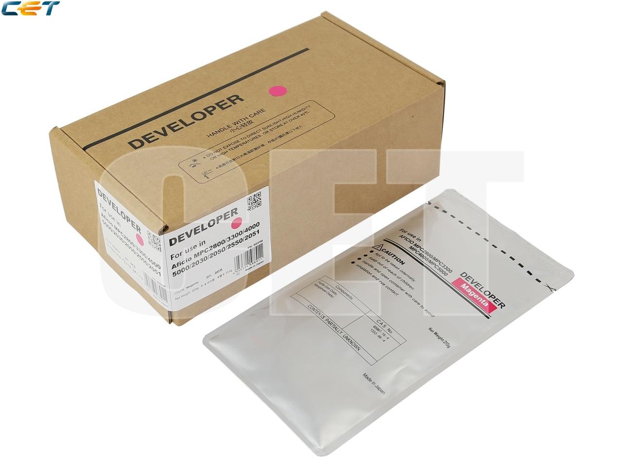 Девелопер для RICOH AficioMPC2800/3300/2030/2550/2051/2551 (CET) Magenta, 215г,240000 стр., CET8891M