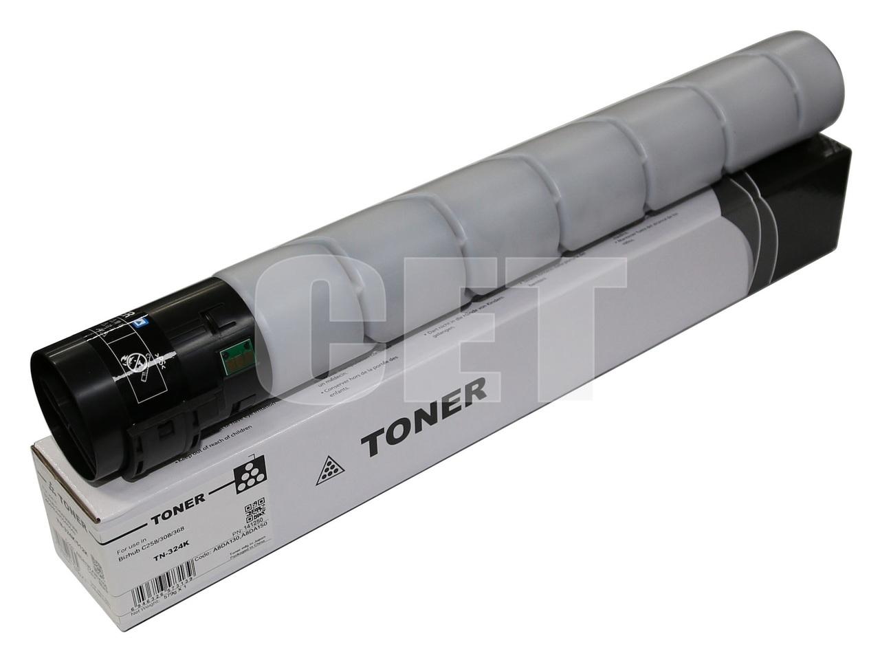 Тонер-картридж (CPT, CE28) TN-324K для KONICA MINOLTABizhub C258/308/368 (CET) Black, (WW), 579г, 28000 стр.,CET141250