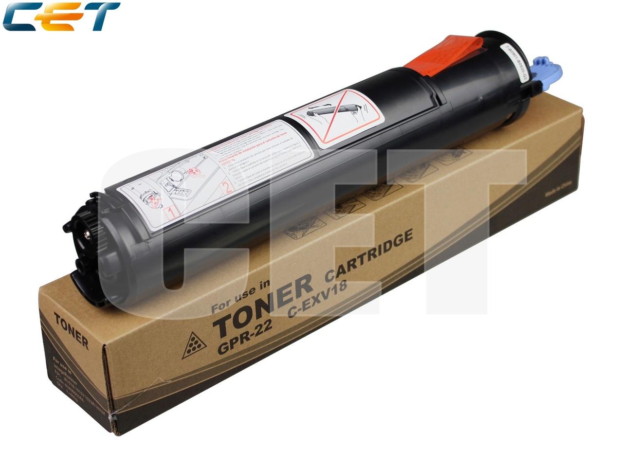 Тонер-картридж C-EXV18 для CANONiR1018/1019/1022/1023/1024/1025 (CET), 465г, 9000 стр.,CET5777N