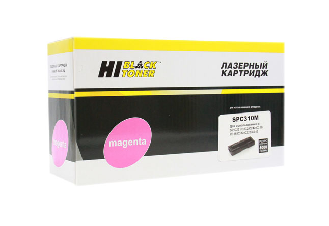 Картридж Hi-Black (HB-SPC310M) для Ricoh AficioSPC231/232/242/310/311/312/320, M, 6K