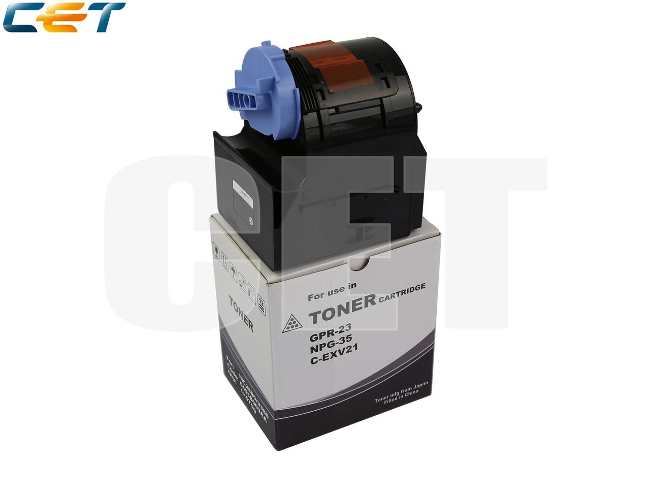 Тонер-картридж C-EXV21 для CANON iRC2880/C3380 (CET)Black, 575г, 26000 стр., CET6568