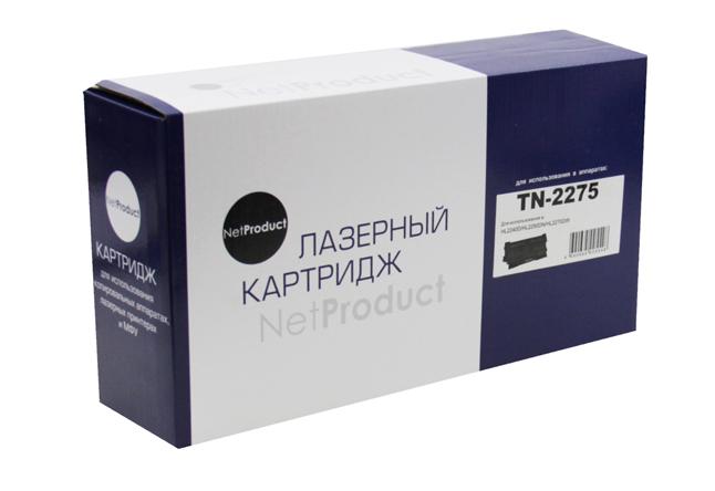 Тонер-картридж NetProduct (N-TN-2275) для BrotherHL-2240R/2240DR/2250DNR/DCP-7060DR, 2,6K