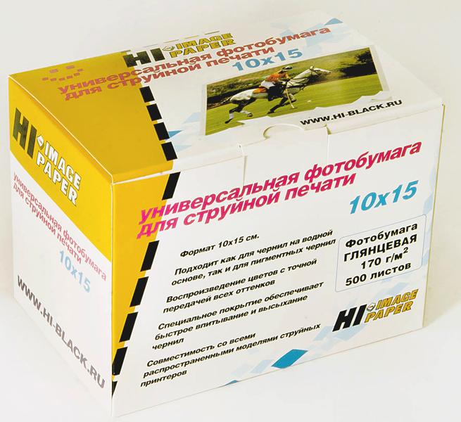 Фотобумага Hi-Image Paper глянцевая односторонняя, 10x15см, 170 г/м2, 500 л.