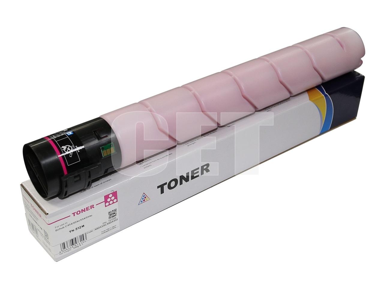 Тонер-картридж (CPT) TN-512M для KONICA MINOLTA BizhubC454/554/454e/554e (CET) Magenta, 514г, 26000 стр.,CET141256