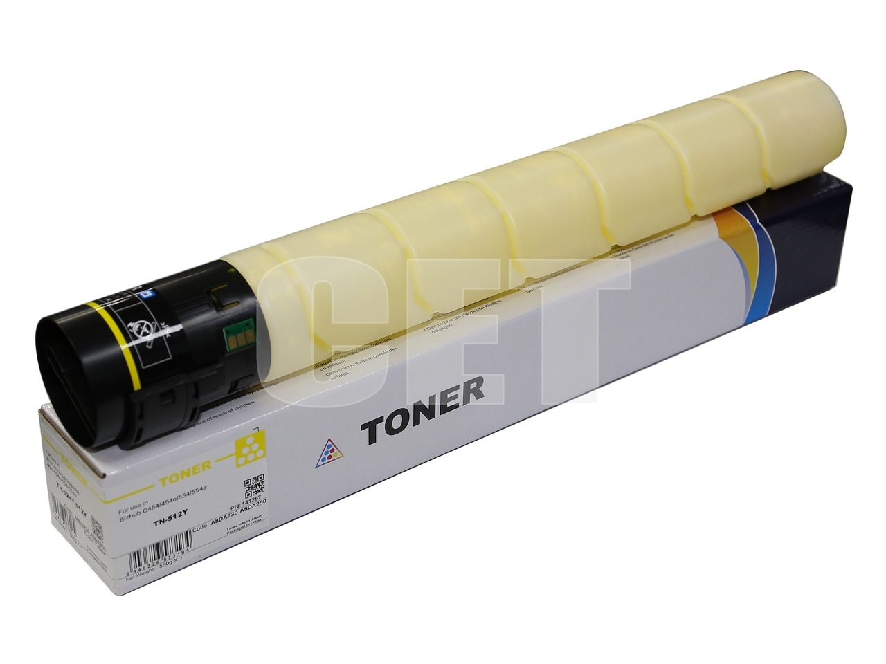 Тонер-картридж (CPT) TN-512Y для KONICA MINOLTA BizhubC454/554/454e/554e (CET) Yellow, 514г, 26000 стр., CET141257
