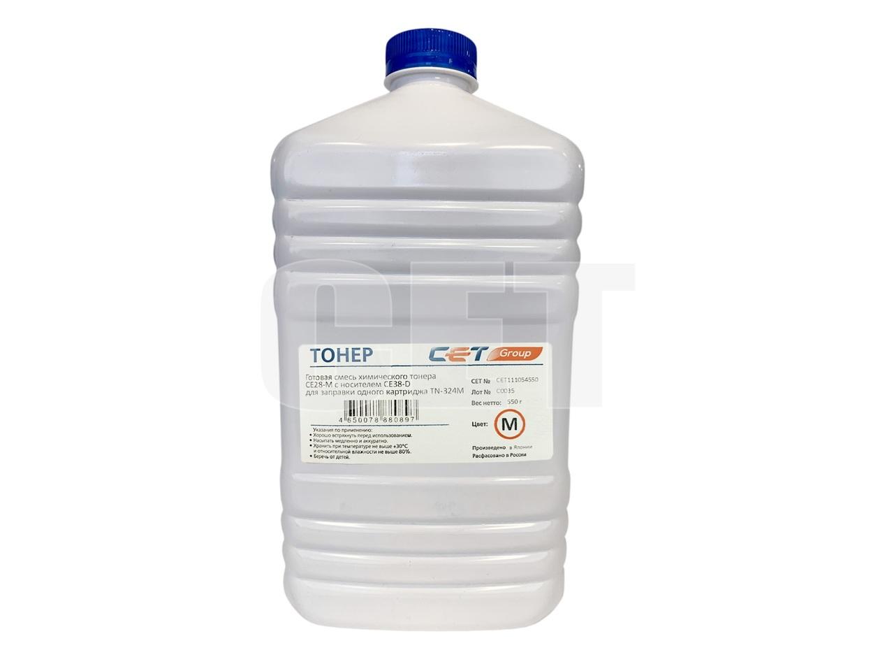 Тонер (CPT) + носитель CE28 для KONICA MINOLTA BizhubC258/308/368 (Japan) Magenta, 550г/бут, CET111054550