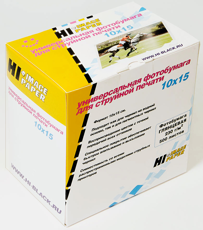 Фотобумага Hi-Image Paper глянцевая односторонняя, 10x15см, 230 г/м2, 500 л.