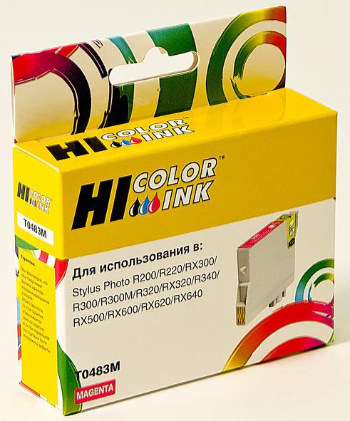 Картридж Hi-Black (HB-T0483) для Epson Stylus PhotoR200/R300/RX500/RX600, M