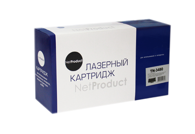 Тонер-картридж NetProduct (N-TN-3480) для BrotherHL-L5000D/5100DN/5200DW, 8K