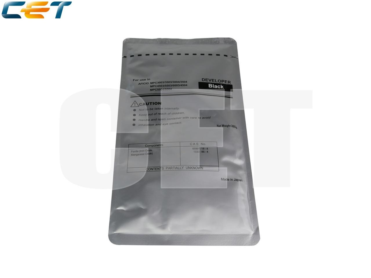 Девелопер для RICOH MPC3003/3503/3504/5503/4504/6004(CET) Black, 380г, 600000 стр., CET171001