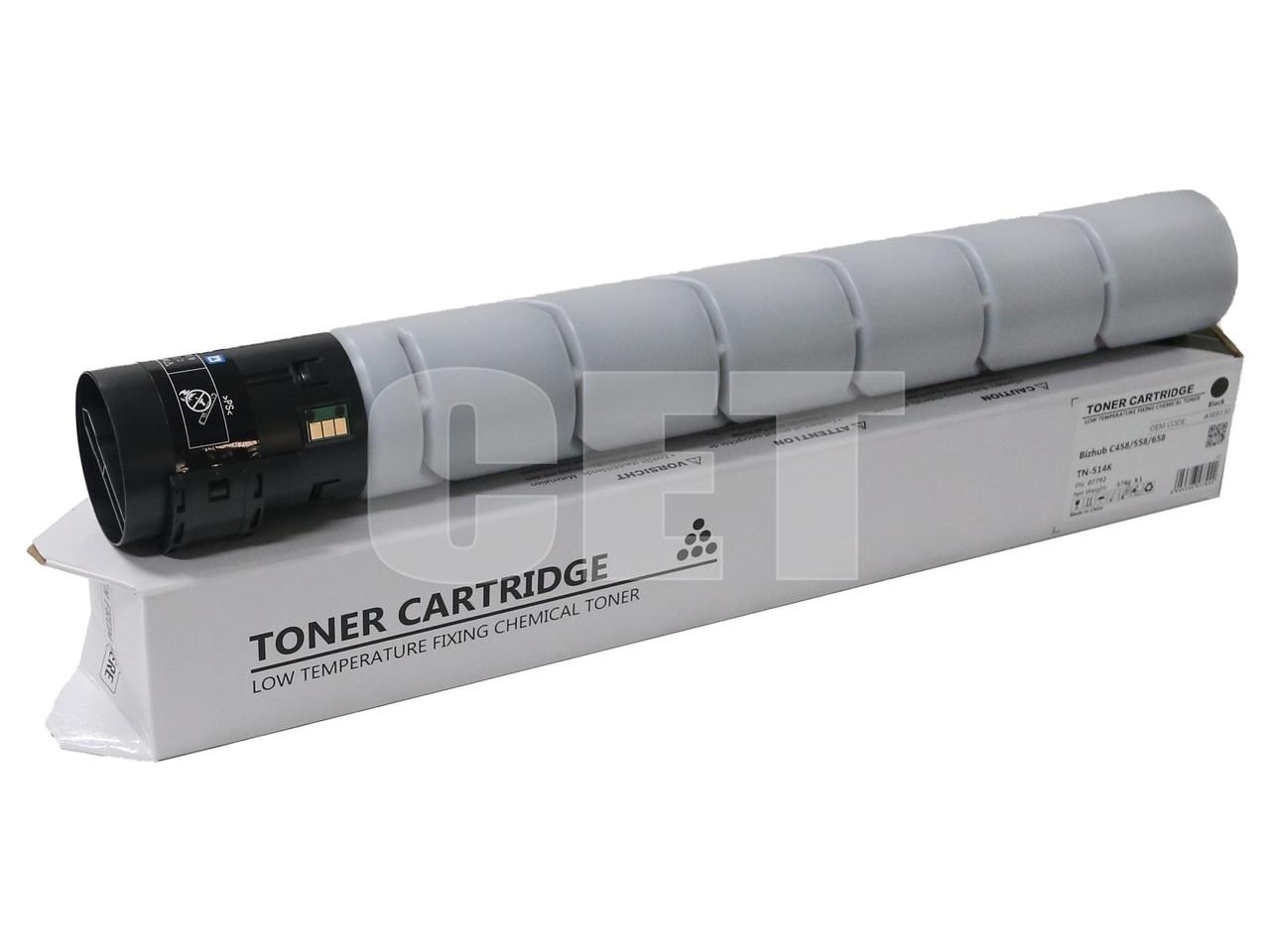 Тонер-картридж (CPT) TN-514K для KONICA MINOLTA BizhubC458/558/658 (CET) Black, 574г, 28000 стр., CET7792