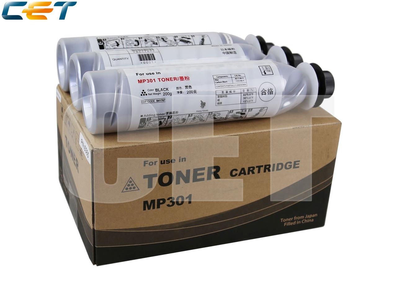 Тонер-картридж (SD3) 841711 для RICOH AficioMP301SP/MP301SPF (CET), 200г, 8000 стр., CET6365