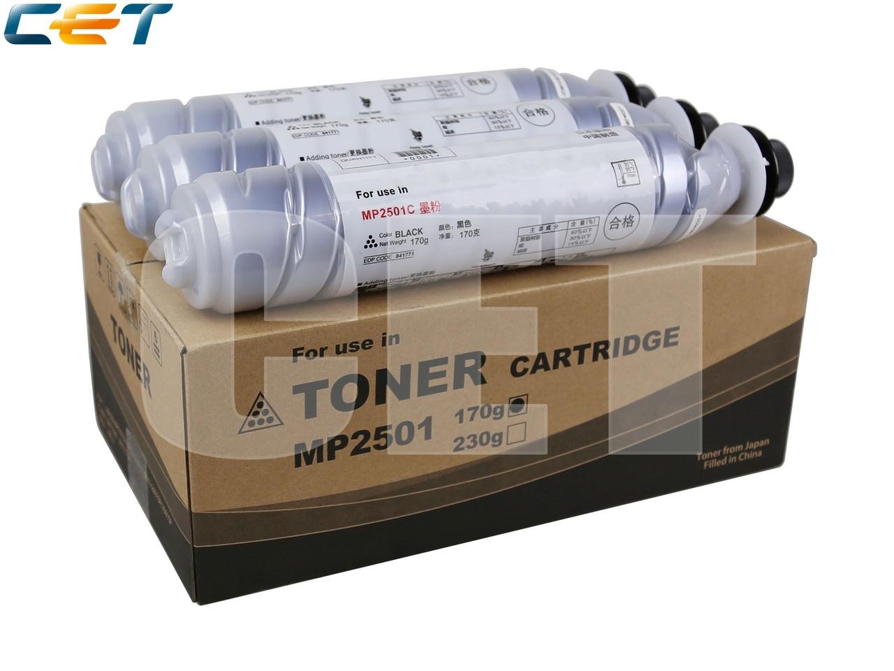 Тонер-картридж (SD6) 841769 для RICOH AficioMP1813L/MP2001L/MP2501L/MP2001SP/MP2501SP/MP2013L(CET), 170г, 6000 стр., CET6354