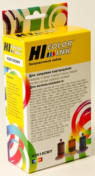 Заправочный набор Hi-Black для HPC6578A/C1823D/C6625AE/C6657A/C8728A/C9352AE, Col,3x20мл