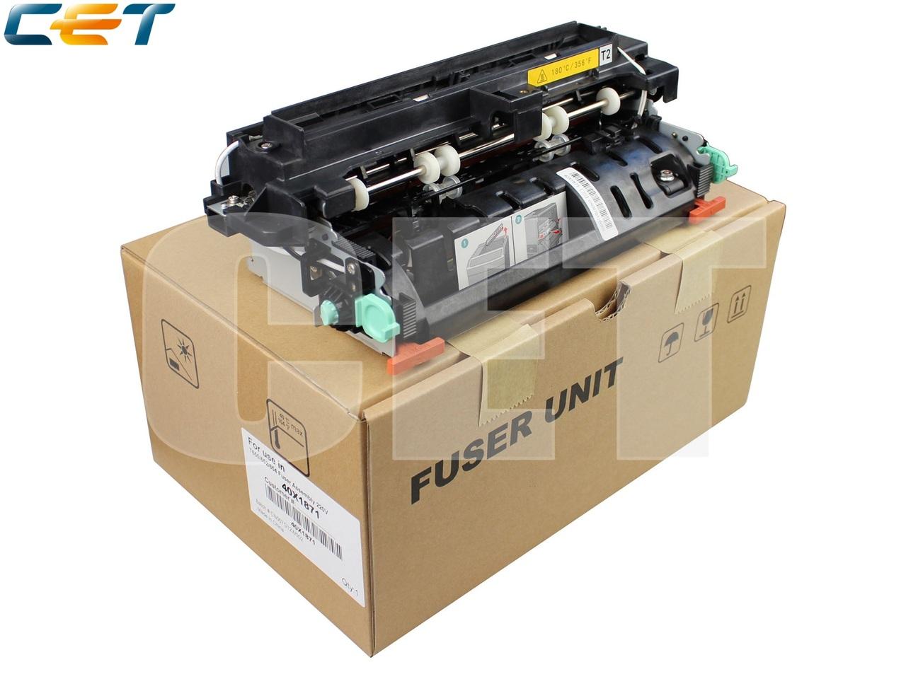 Фьюзер (печка) в сборе 40X1871, 40X5855 для LEXMARKT650/T652/T654/X651/X652/X654/X656/X658 (CET), CET5890