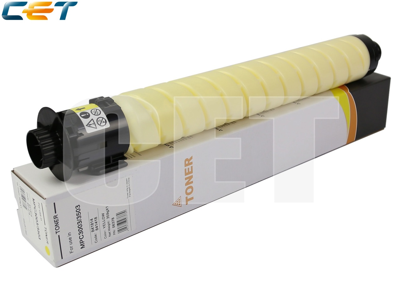 Тонер-картридж 841818 для RICOHMPC3003/MPC3503/MPC3004/MPC3504 (CET) Yellow, 359г,18000 стр., CET6378