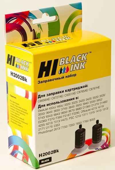 Заправочный набор Hi-Black для HPC9351A/C8765H/C8767H/HPC6656A/C8727A, Bk, 2x20 мл.
