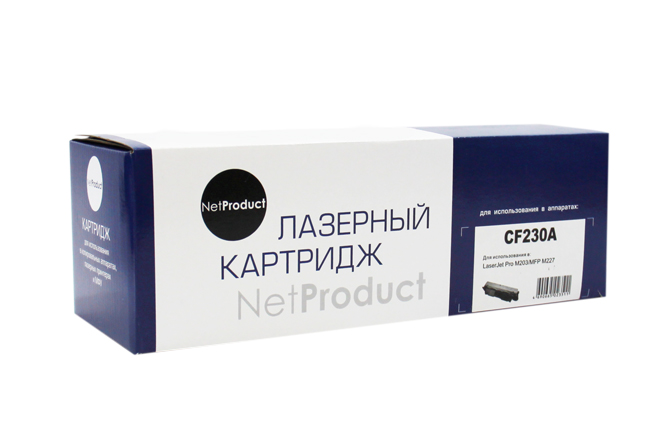 Тонер-картридж NetProduct (N-CF230A) для HP LJ ProM203/MFP M227, 1,6K, с чипом