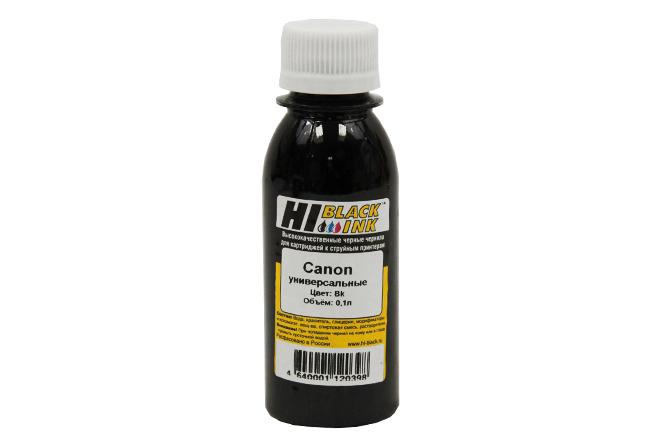 Чернила Hi-Black Универсальные для Canon (Тип C), Bk, 0,1 л.
