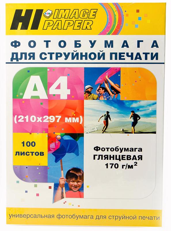 Фотобумага Hi-Image Paper глянцевая односторонняя, A4, 170г/м2, 100 л.
